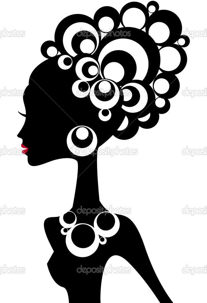 zenci kız - Stok İllüstrasyon: 1527356