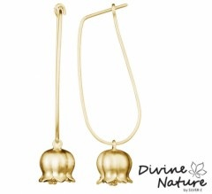 Lily of the Valley  Beautifull gold plated sterling silver earring
