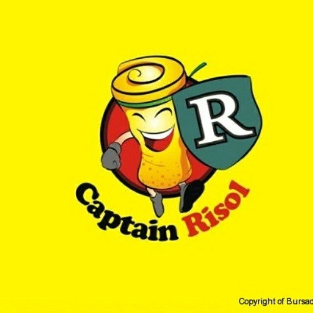 Logo Captain Risol By BursaDesain.com  #LogoDesign #BBM:52A24478