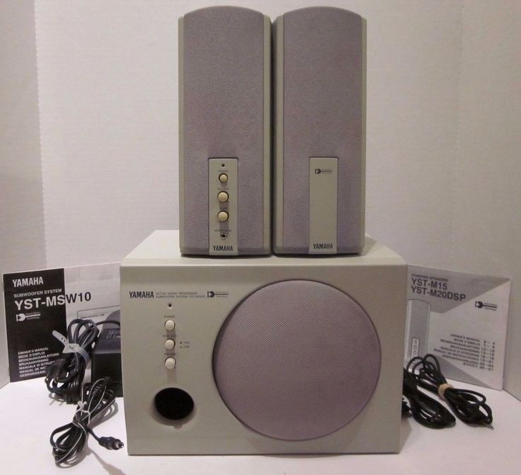 Yamaha Powered Speakers YST-M15 Subwoofer System YST-MSW10 Computer Mp3 Player  #Yamaha