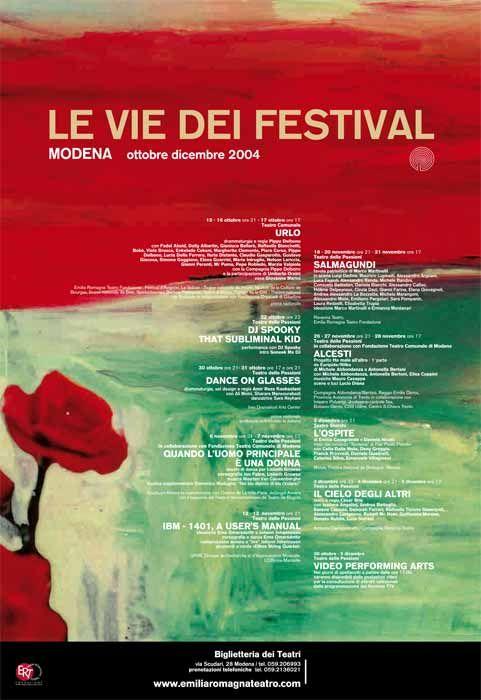 Immagine di Gianluigi #Toccafondo per la locandina di #VIE #Festival 2004 a #Modena