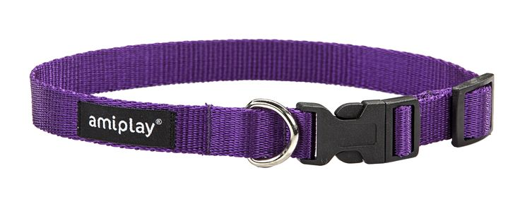 Adjustable collar with lock Basic. Purple
