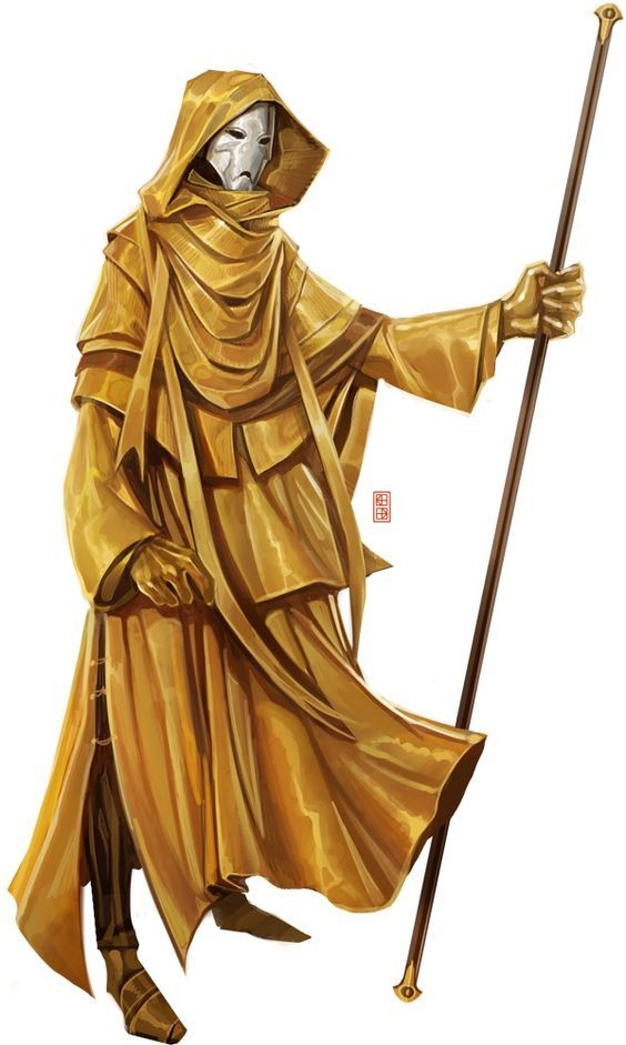 Yellow monk/wizard