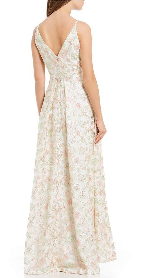a245dc1a5a Calvin Klein Floral Embroidered Gown  Klein Calvin Floral Mother Bride