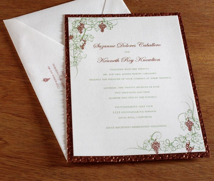 Best Wine Club Wedding Gift : wedding invitations. Perfect for the wine country destination wedding ...