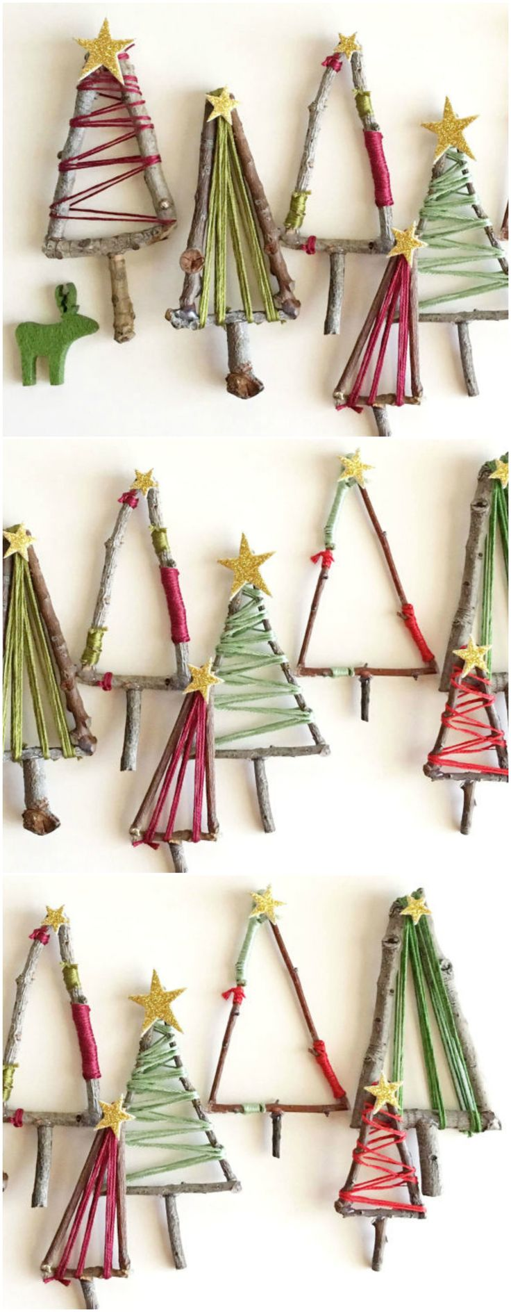 The kids will love making these natural twig Christmas trees that can be hung up as decorations, placed around your festive table or added to presents under the tree. Plus, if you're looking to add a little extra to your gift giving this year, these mini festive trees make the perfect present toppers. Click for the full step-by-step.