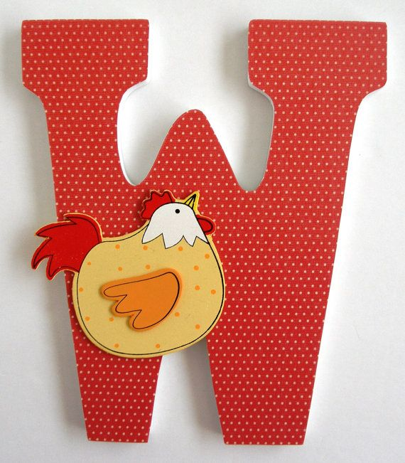 Custom+Decorated+Wooden+Letters++RED+Theme++Kitchen+by+LetterLuxe,+$20.00