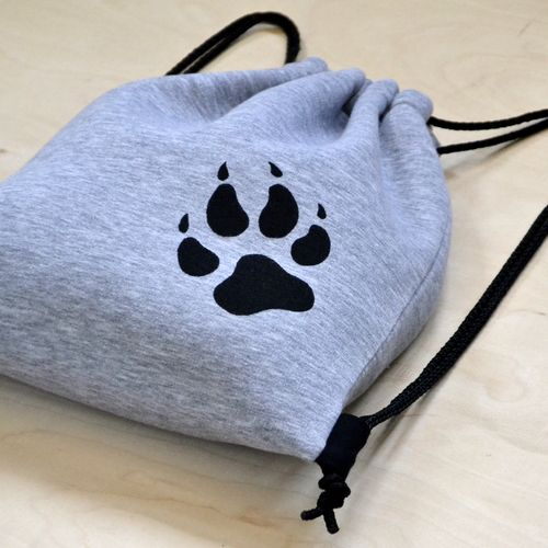 Drawstring bag from Woolves #sweatshirt #wolf #paw #bag