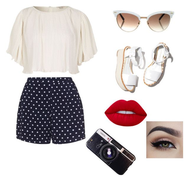 Retro flair by jaraujo3 on Polyvore featuring polyvore, fashion, style, River Island, Zizzi, Chicnova Fashion, Gucci, Lime Crime, Paloma Barceló and clothing