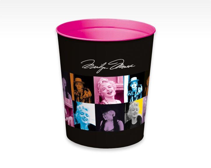 Corbeille à papier en métal / Metal wastepaper basket Marilyn Monroe - Quo Vadis