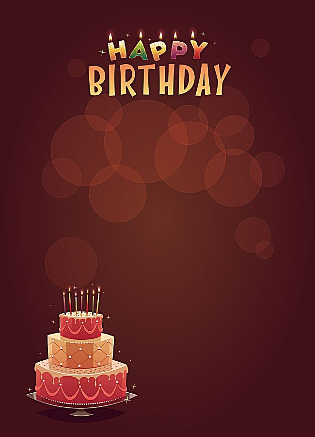 Happy Birthday Cake Candle Poster Background Material