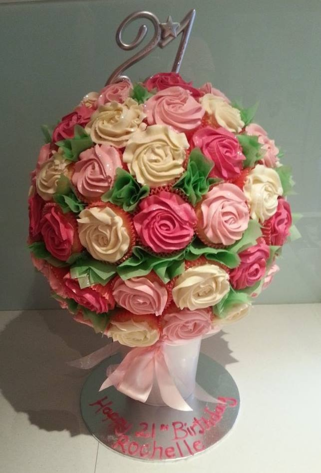 Images Of Birthday Cake With Bouquets : 21st Birthday Cupcake Bouquet Cake Cup Cake Land and How ...
