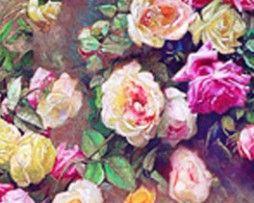 Vkusný dámsky hodvábny šál s farebnými kvetmi