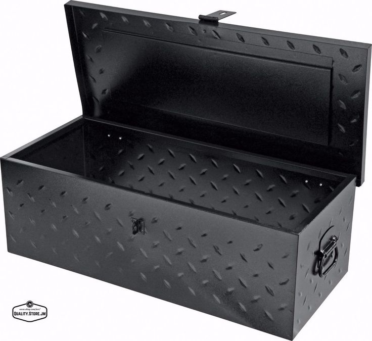 Truck Tool Box Black Steel Bed Organizer Chest Flatbed