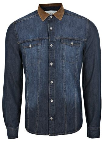 Burton  Standard out with subtle detailing such as this cord collar on our denim shirt.  £25