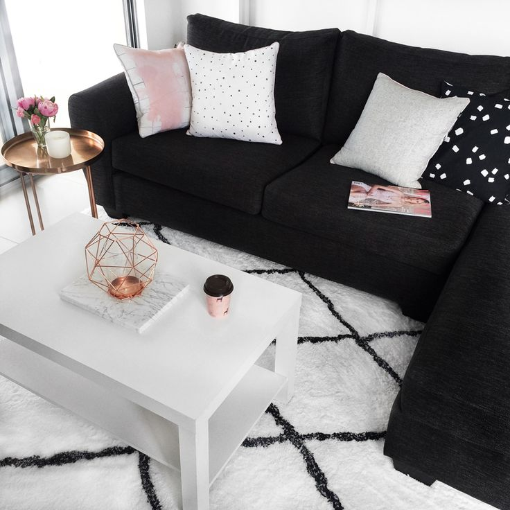 My Living Room ♥ Www.flipandstyle.com. Black Couch DecorBlack ...