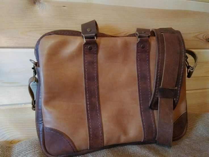Leather Messenger Bag/ Leather Briefcase / Rustic Briefcase /Handmade Cross-body/ Bag Brown leather bag. / Laptop bag. by OandDLeather on Etsy
