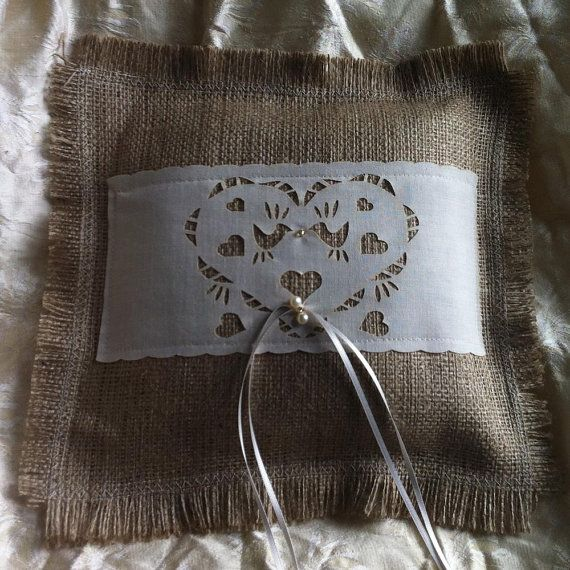 10 best Wedding ring cushion images on Pinterest Ring pillows