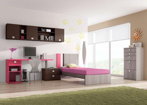 Dormitorio juvenil de lineas modernas