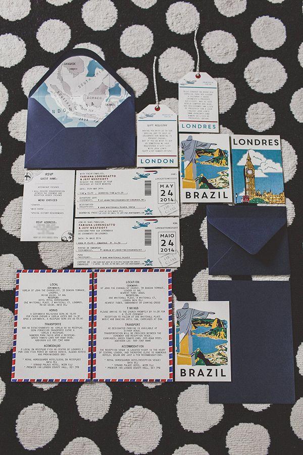 Lucy says I do bespoke wedding stationery travel inspired custom map london brasil https-//www.etsy.com/uk/shop/lucysaysido?ref=hdr_shop_menu