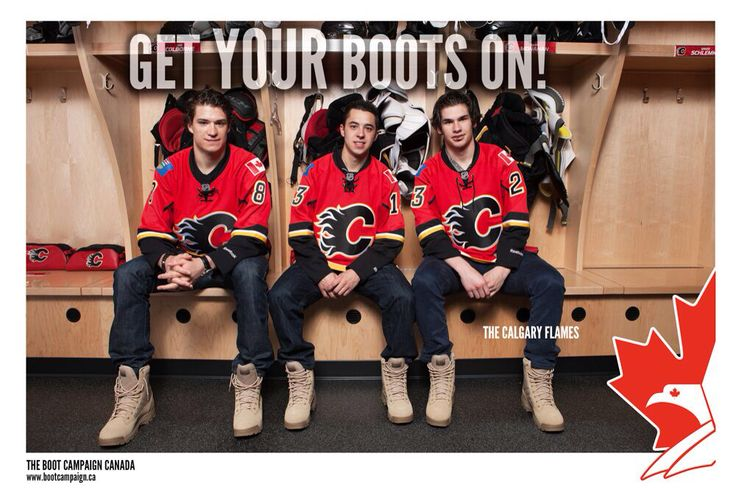 Calgary Flames Johnny Gaudreau, Sean Monahan, and Joe Colborne got THEIR #bootson! #NHL