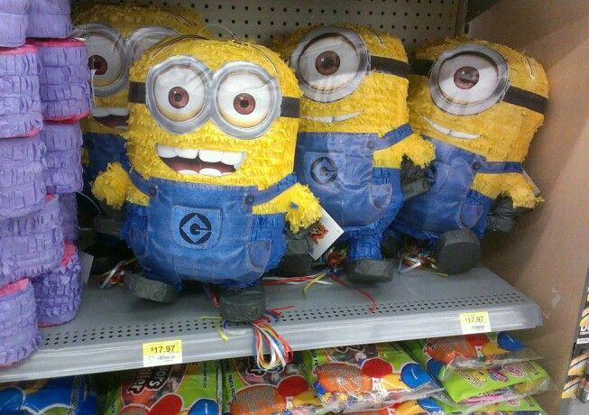 Minion pinatas at Walmart