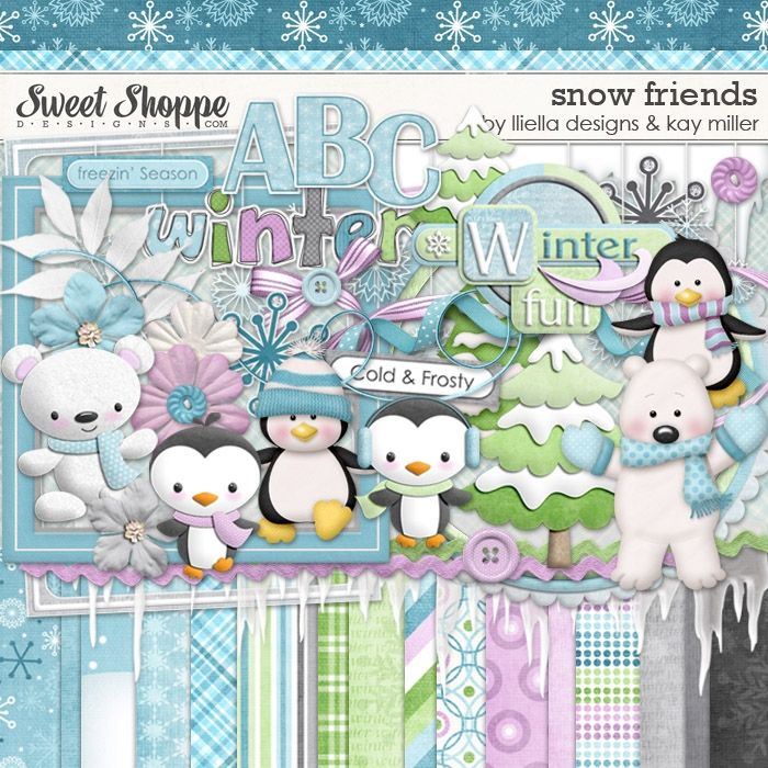 Snow Friends by lliella designs and Kay Miller
