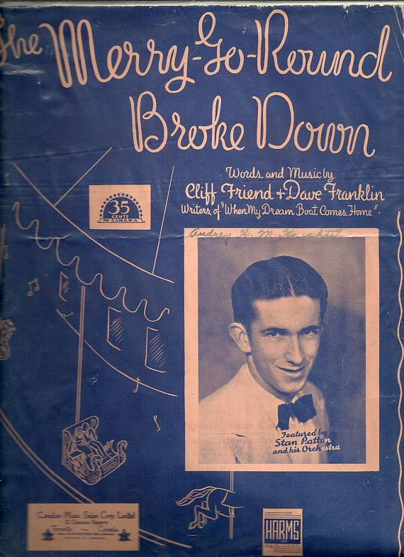 Vintage Sheet Music 1930s Music Stan Patton Orchestra The