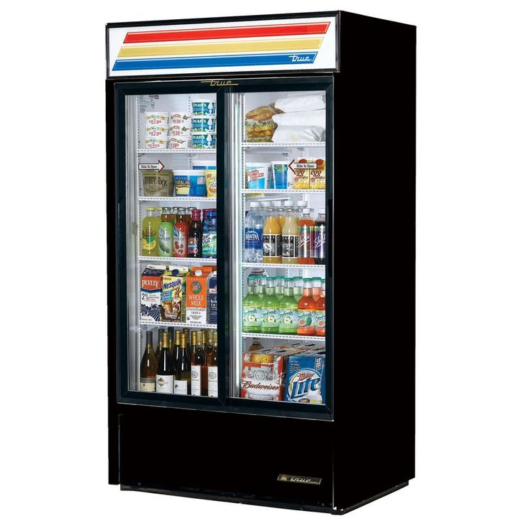 Sliding Glass Door Refrigerator Merchandiser