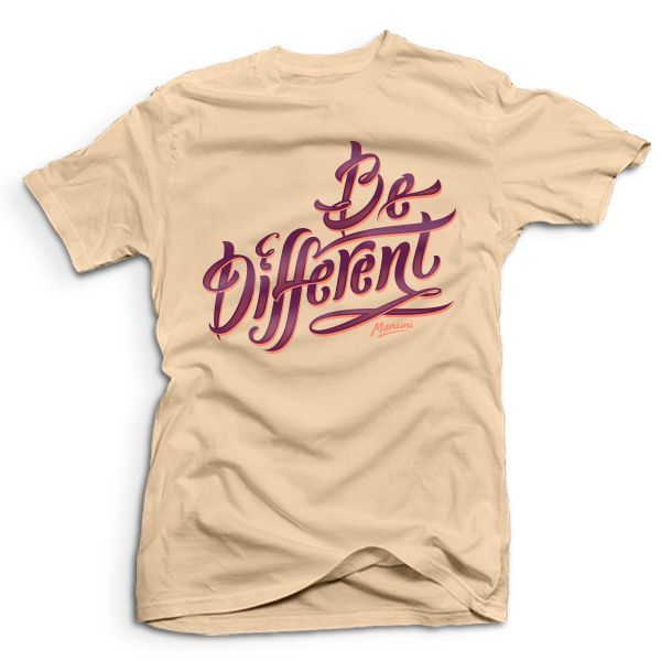 Cool t-shirt designs | #957 // Like the colors used, the script font, the bold statement