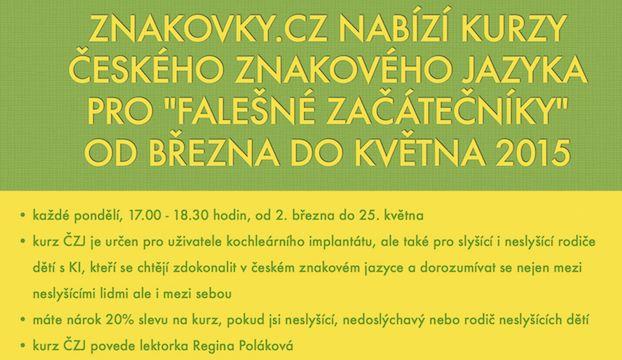 Nabízíme jarní intenzivní kurz ČZJ v Praze za skvělou uvítací cenu!