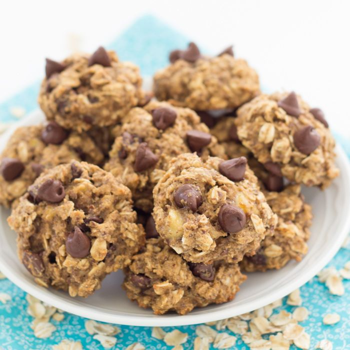 These Banana Chocolate Chip Breakfast Cookies are filled with whole grains and flaxseed, and naturally sweetened with honey. They keep well in the freezer, for an easy grab and go breakfast or snack.