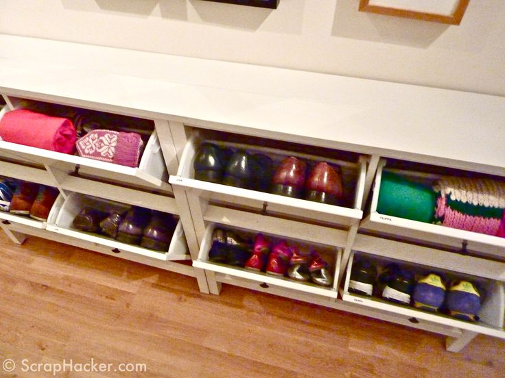 ikea hemnes hack after shot i have no where to put this in my current house but what a great idea for a hallway