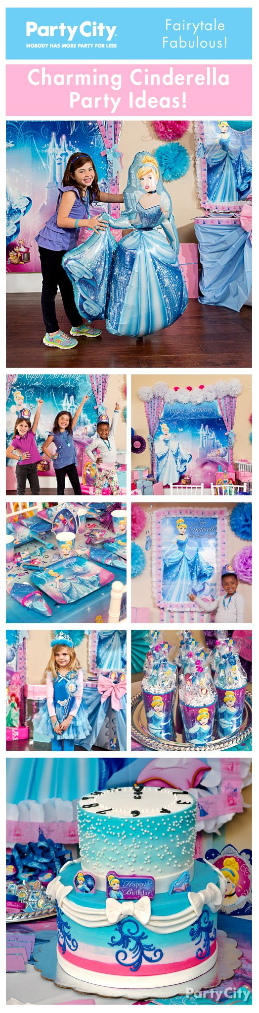 No need for a fairy godmother to throw your daughter an enchanting Cinderella birthday celebration! From table settings to fun games, there's magical inspiration for everything!