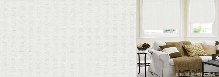 Victorian White White Roller Blinds - Wide