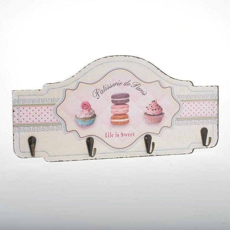 Ξύλινη κρεμάστρα 4 θέσεων cup cake. Δημιουργείστε μια ρομαντική πινελιά στο σπίτι σας.