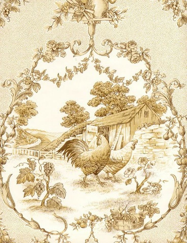 Pin By Li Jin On Wallpaper French Fabric Toile French