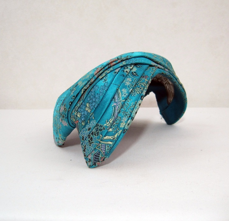 50s Hat Vintage Asian Brocade Turquoise Cocktail Hat