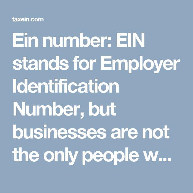 Best 25+ Employer identification number ideas on Pinterest - employer phone number