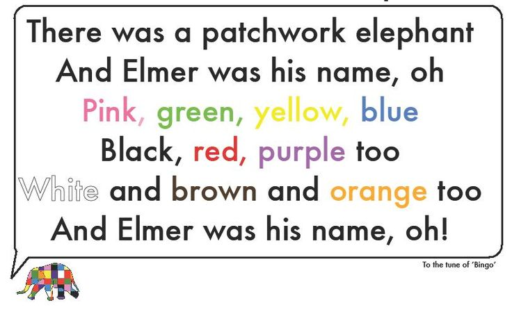 Learning colours with Elmer the Patchwork Elephant