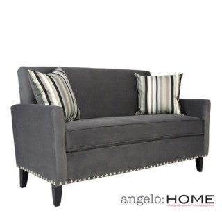 overstock the angelohome sutton sofa was designed by angelo surmelis the