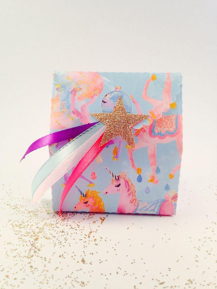 Treat box, unicorn party decor