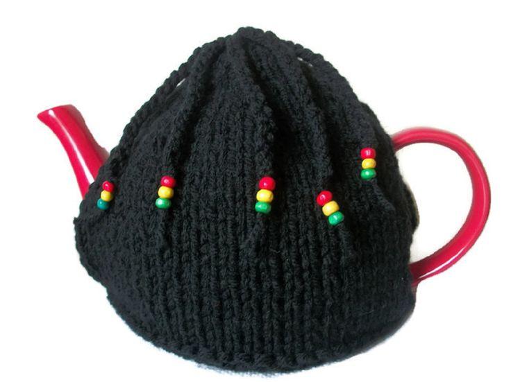 Braid Rasta Tea Cosy, Hand Knitted, £15.99