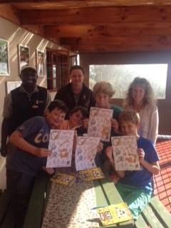The first group of EcoKidz take their Tenikwa Pledge to respect animals and protect their habitats.......  — at Tenikwa Wildlife Awareness Centre.