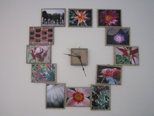 Homemade wall clock! But with photos of numbers up to 12