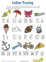 Trace the Letters for Trumpet, Umbrella, and More
