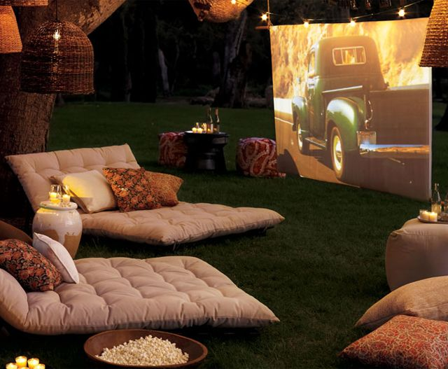 Movie theater in the backyard: Date Night, Idea, Movie Theater, Movienight, Summer Movie, Outdoor Theater, Backyard Movie, Movie Night, Summer Night