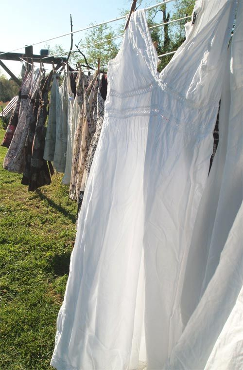 lots of clothes on the line