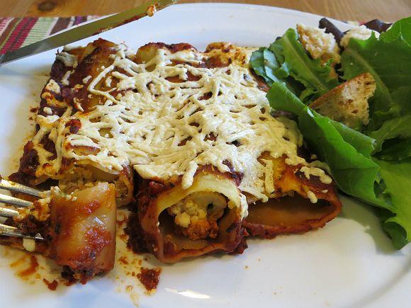 Delicious Vegan Ricotta Cannelloni