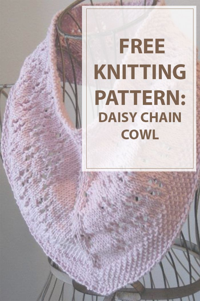 Full of whimsy and heat weather cheer, the flower Chain Cowl is the final spring…